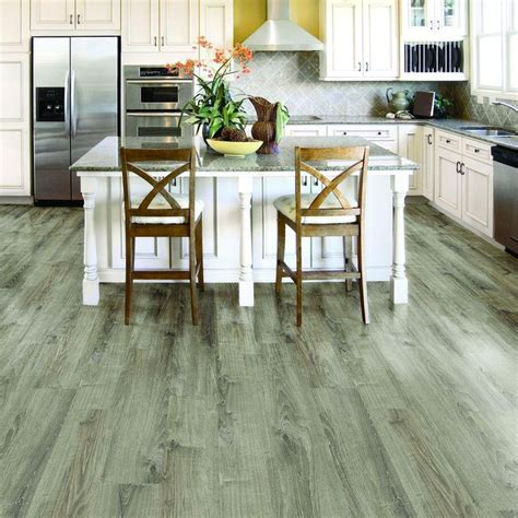 hardwood floor in the kitchen trafficmaster ultra blue concrete resilient vinyl 7008