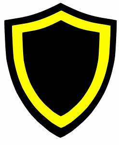 Black And Yellow Shields Clip Art - Vector Clip Art Online