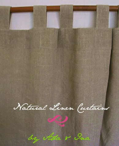 ada ina s ready made curtains linen aspirations