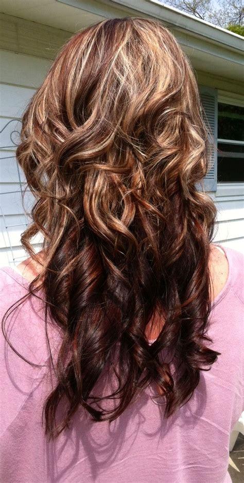 Dark Chocolate Brown Base Hint Of Red With Highlights