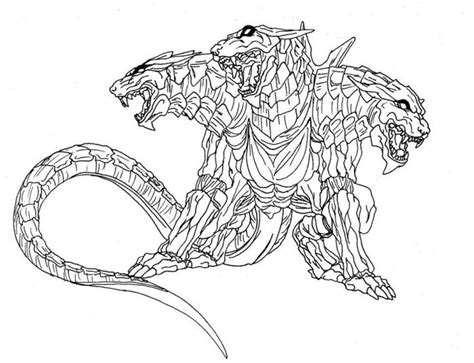Cerberus Printable Adult Coloring Pages Of Fantasy Animal
