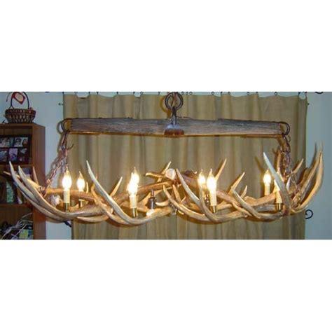 single tree mule deer antler chandelier