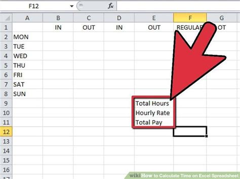 calculate time  excel spreadsheet  steps