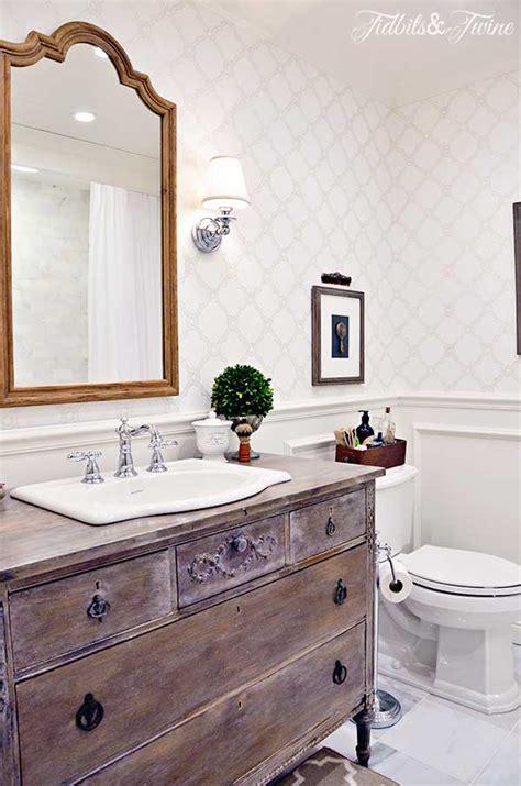 guest bathroom vanity guest bathroom makeover reveal tidbits twine