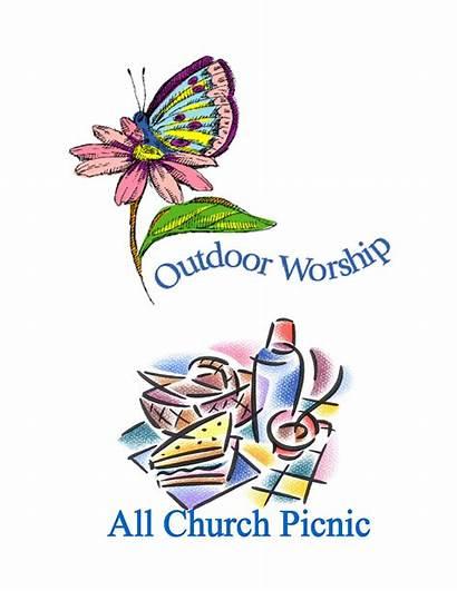 Church Outdoor Clipart Service Picnic Worship Clip