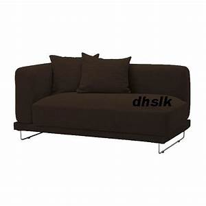 ikea tylosand 2 seat 1 arm sofa cover rephult dark brown With sofa arm covers canada