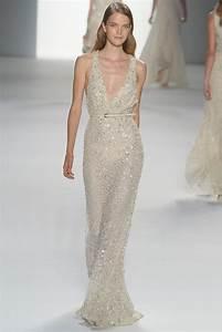 deep v neck elie saab beaded wedding dress With deep v neck wedding dress