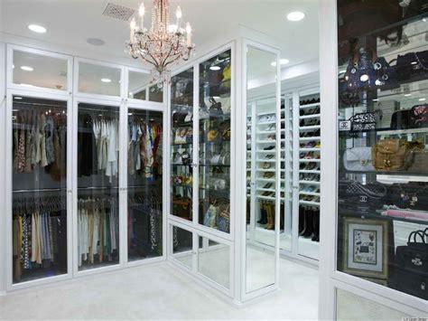 storage glass door in big closet designs modern big