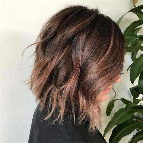 strähnchen kurze haare balayage braun grau kurze haare