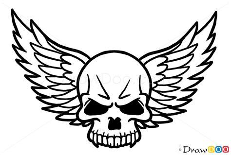 draw skulls step  step drawing