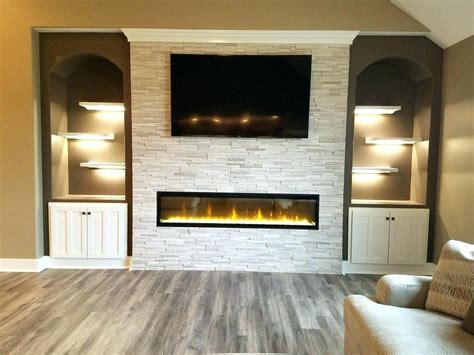 Fireplace With Tv Above by Linear Fireplace With Tv Above 1500 Trend Home Design