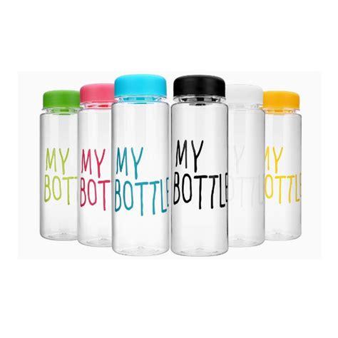 s038 my bottle tanpa pouch infused water botol minum stylish bahan plastik tritan bpa free