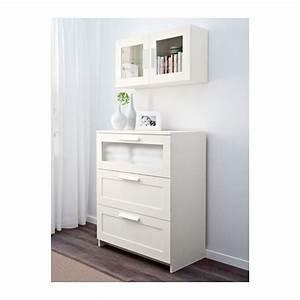 Armoire Murale Chambre : brimnes armoire murale porte vitr e blanc chambre de ~ Melissatoandfro.com Idées de Décoration