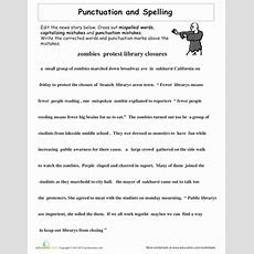 Proofreading Practice Punctuation And Spelling  Worksheet Educationcom