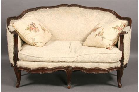 Sofas And Settees For Sale by Antique Settee Styles Rounded Arms Carved Walnut