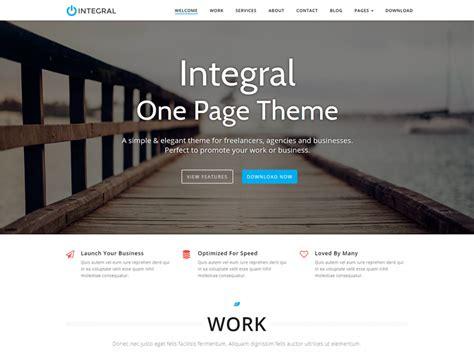integral  premium  page business wordpress theme