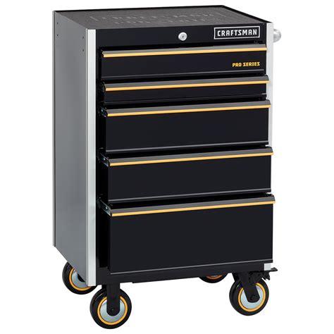 craftsman professional cabinet saw craftsman 26 quot wide 5 drawer rolling cabinet black