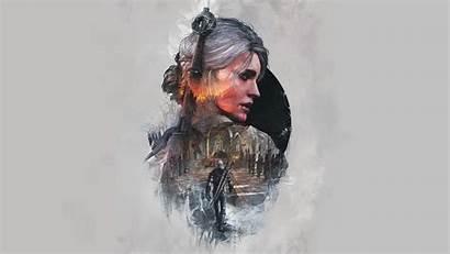 Geralt Rivia Witcher Desktop Artwork Minimal