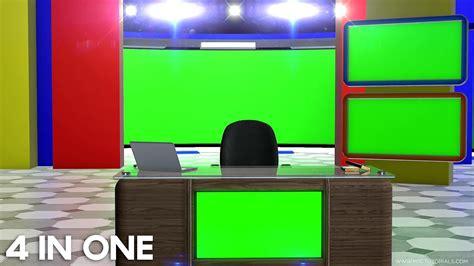 green screen virtual studio news desk