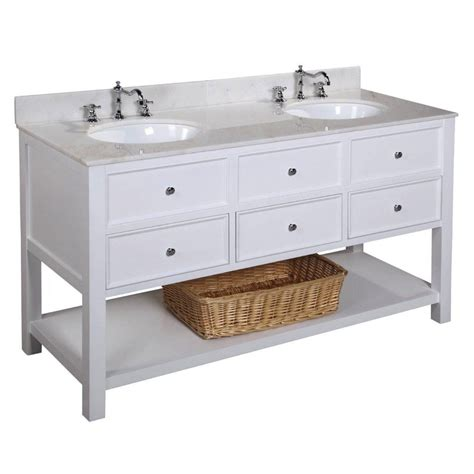 Double Bathroom Vanities Lowes Modern Shop At With Solid