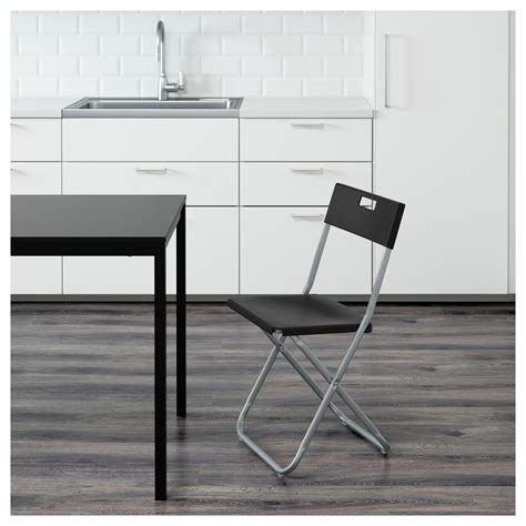 gunde folding chair black ikea