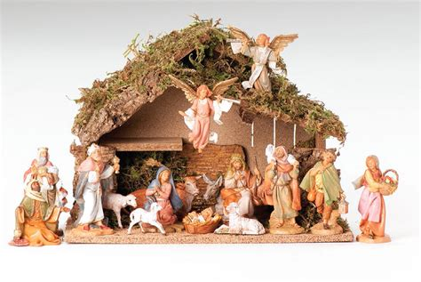 5 inch scale 16 piece nativity set by fontanini
