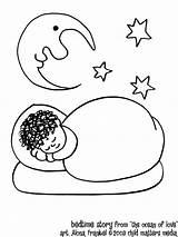Coloring Bedtime Sleep Cartoon Popular Adults sketch template