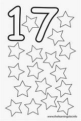 Coloring Number Seventeen Stars Pages Outline Flashcard Para Al Flashcards Worksheet Preschool Colouring Learning Teaching Del Learn Thelearningsite Info Jellybeans sketch template
