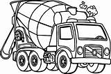 Mixer Truck Cement Coloring Printable Concrete Adult sketch template