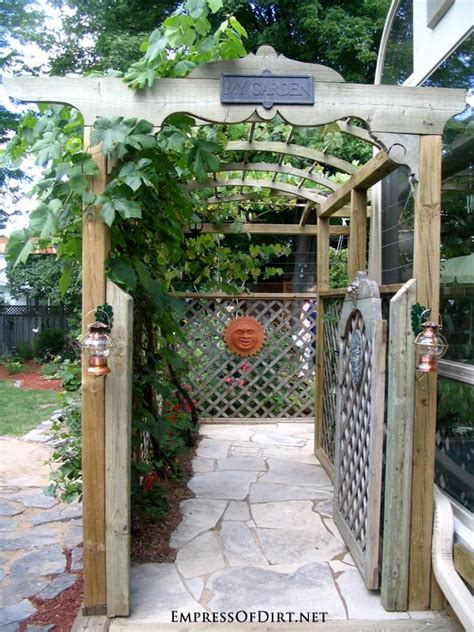 garden arbor with gate 20 arbor trellis obelisks ideas empress of dirt