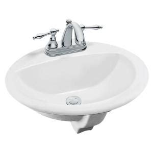 glacier bay aragon self drop in bathroom sink in white 13 0012 4whd the home depot