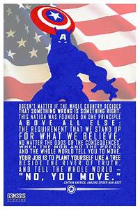 Captain America... Great Comic Book Quotes