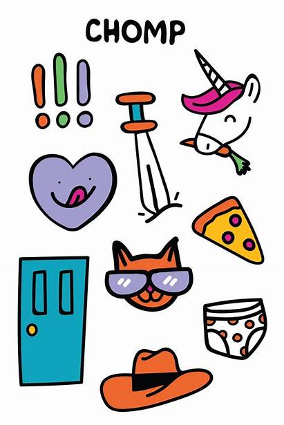 Doodle Stickers Dums Sayings