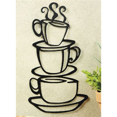 metal wall decor coffee house cup java silhouette wall metal mug kitchen home decor ebay