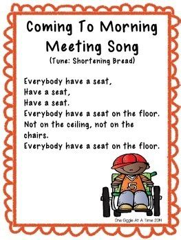 morning meeting songs   giggle   time teachers
