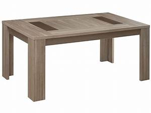 Table rectangulaire 180 cm ATLANTA coloris chêne fusain Vente de Table de cuisine Conforama