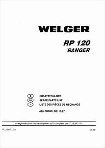 Welger Ranger Rp120 Service Parts Catalog Download In 2020