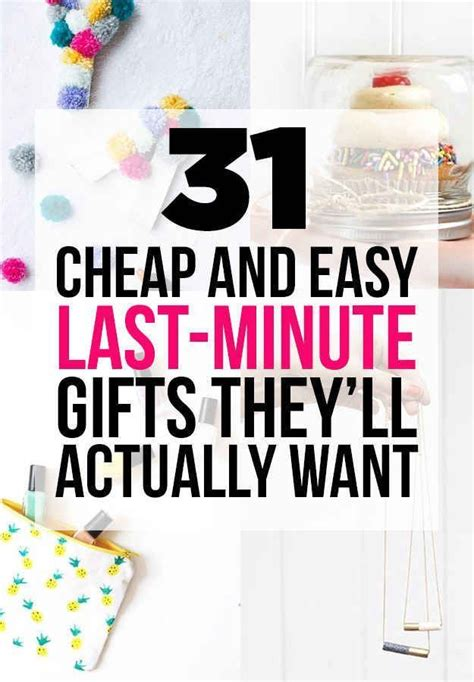 Cheap And Easy Last Minute Diy Gifts Theyll Actually