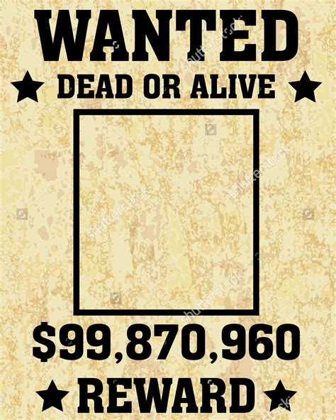 Wanted Poster Template Wanted Poster Template Driverlayer Search Engine