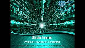 Matrix Binary Background Powerpoint Templates Themes And