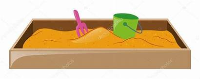 Sandkasten Eimer Gabel Brgfx Stockillustration