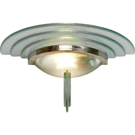 art deco wall light fittings uk flush fitting chrome and glass art deco wall light with
