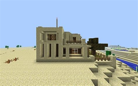sandstone house  zuumi minecraft map