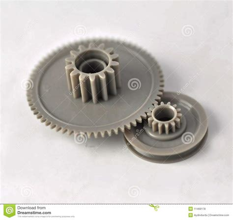 plastic gears royalty  stock  image