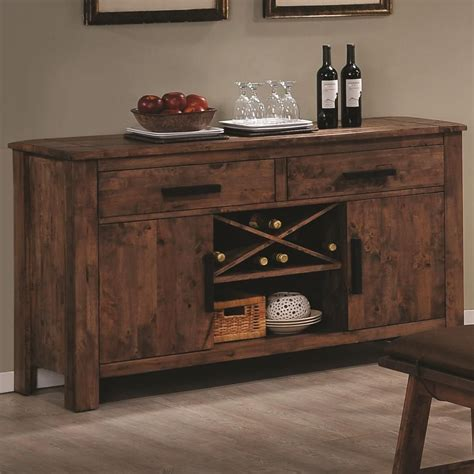 Kitchen Cabinet Wine Rack Ideas - coaster maddox 103475 brown wood buffet table in los angeles ca