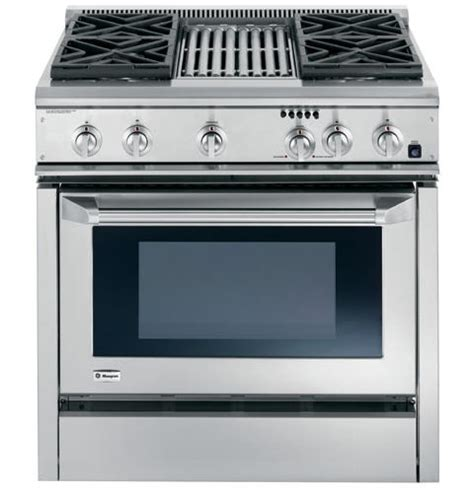 ge monogram  dual fuel professional range   burners  grill natural gas