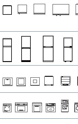 Kitchen CAD Blocks, thousand dwg files: sinks, kitchen