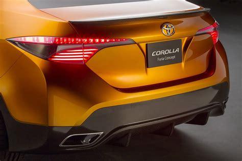 toyota corolla furia concept previews  small sedan