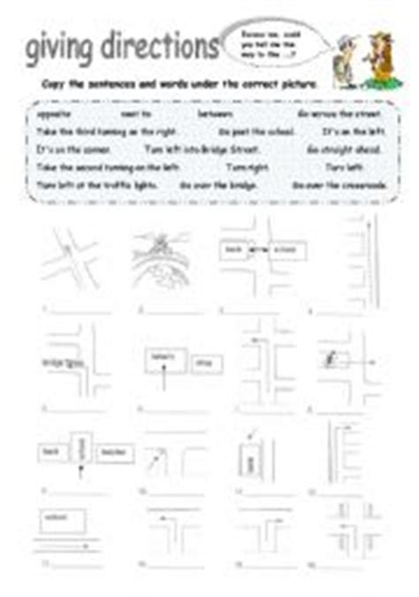 giving directions esl worksheet by foreign