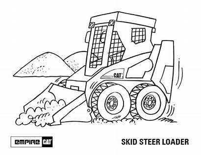 Coloring Skid Steer Pages Bobcat Drawing Loader
